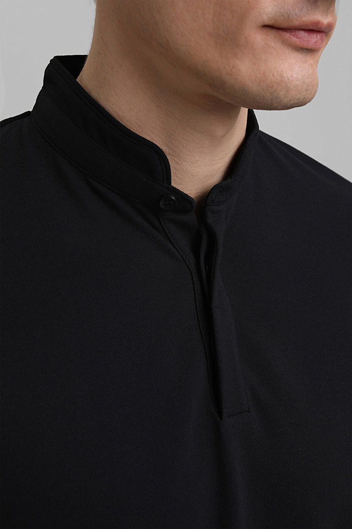 Polo de piqué con COOLMAX®, BLACK, detail image number 1