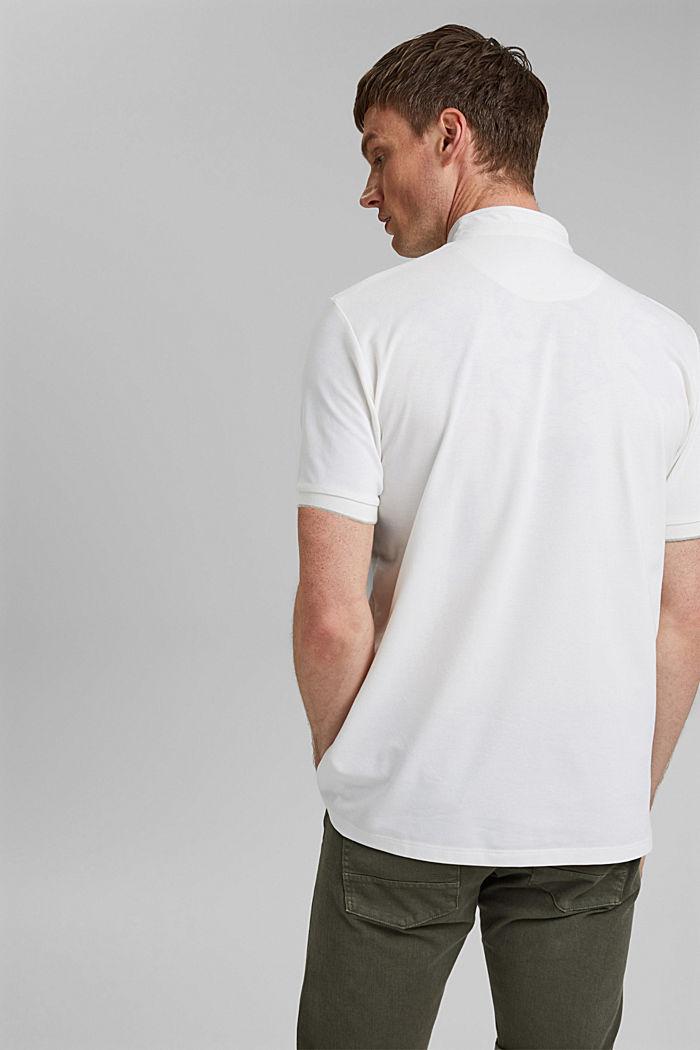 Polo en piqué à la technologie COOLMAX®, OFF WHITE, detail image number 3