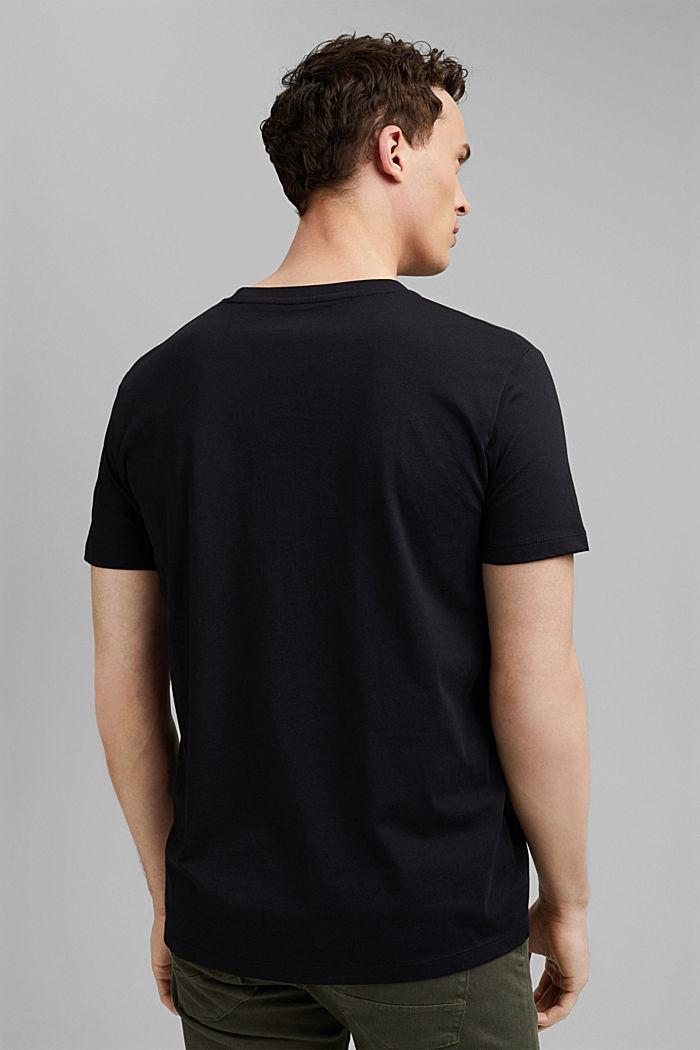 T-shirt met print, 100% organic cotton, BLACK, detail image number 3