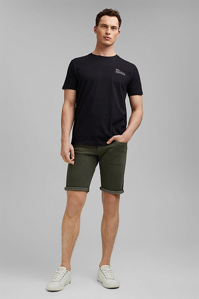 T-shirt met print, 100% organic cotton, BLACK, detail image number 2