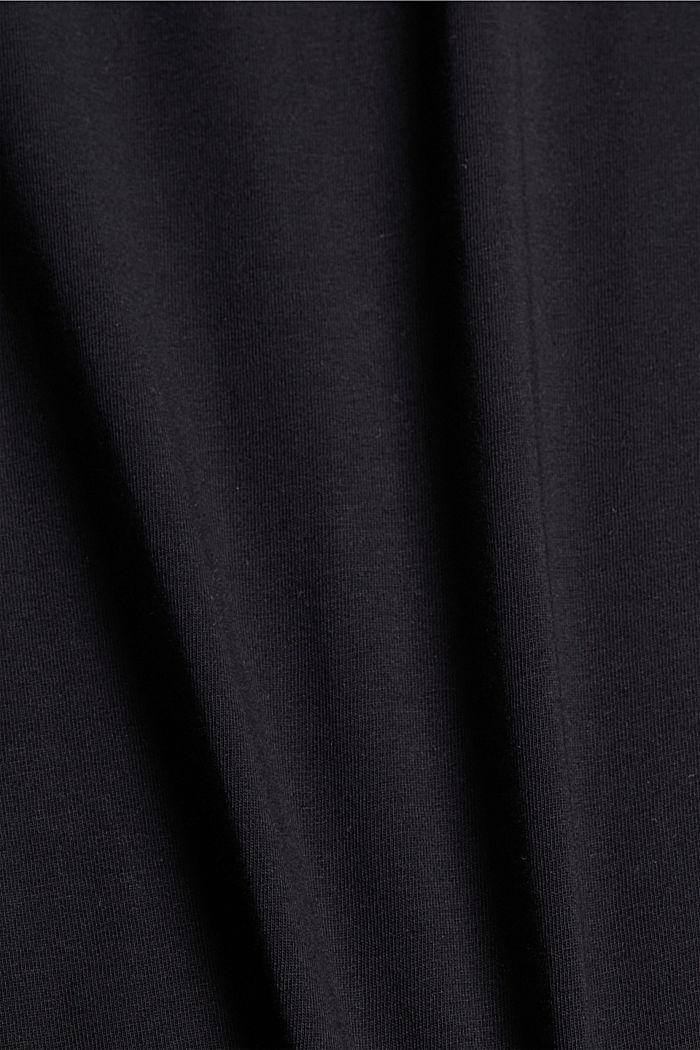T-shirt met print, 100% organic cotton, BLACK, detail image number 4