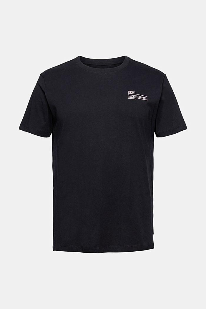 T-shirt met print, 100% organic cotton, BLACK, detail image number 5