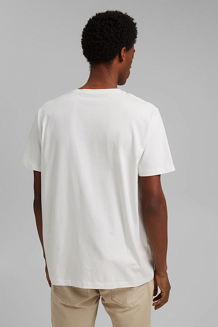 Printed T-shirt, 100% organic cotton, OFF WHITE, detail image number 3