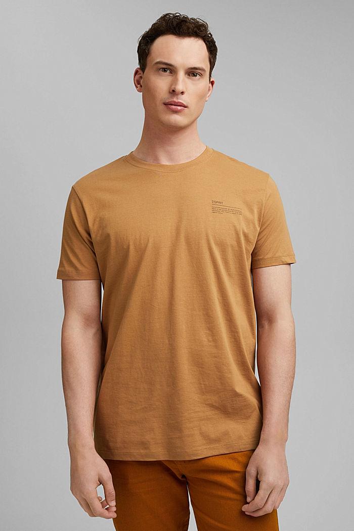 T-Shirt mit Print, 100% Organic Cotton, CAMEL, detail image number 0