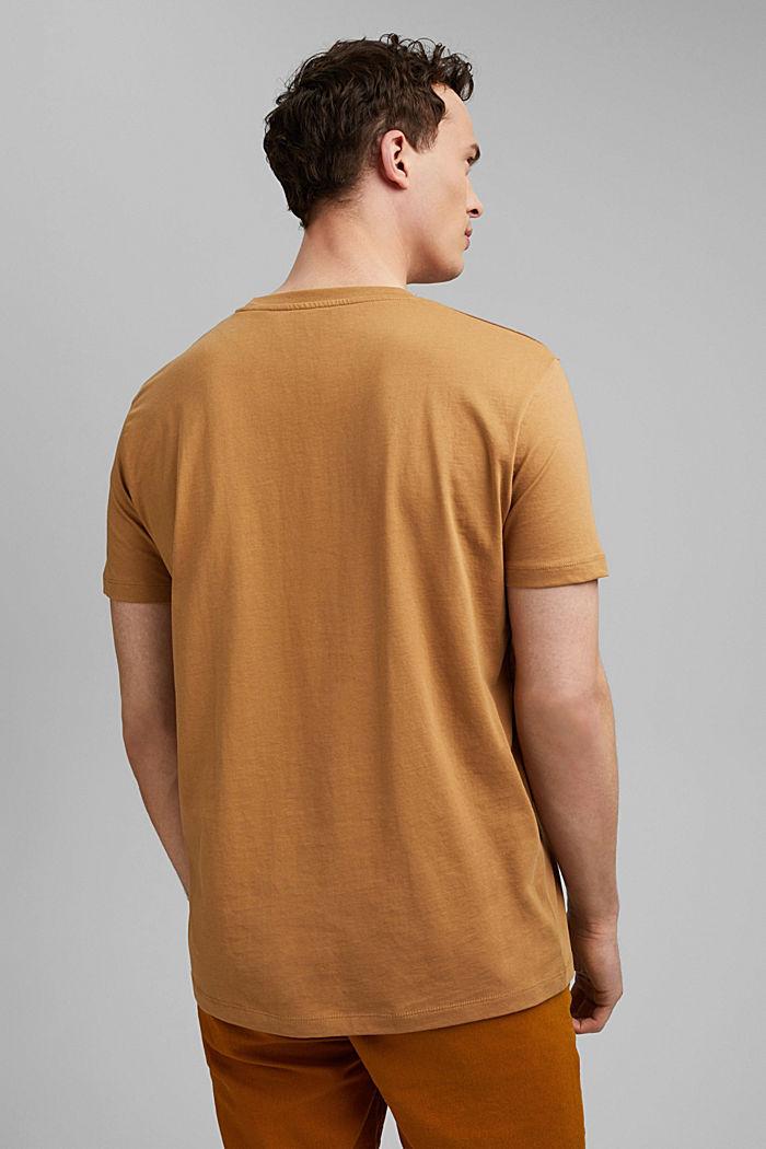T-Shirt mit Print, 100% Organic Cotton, CAMEL, detail image number 3