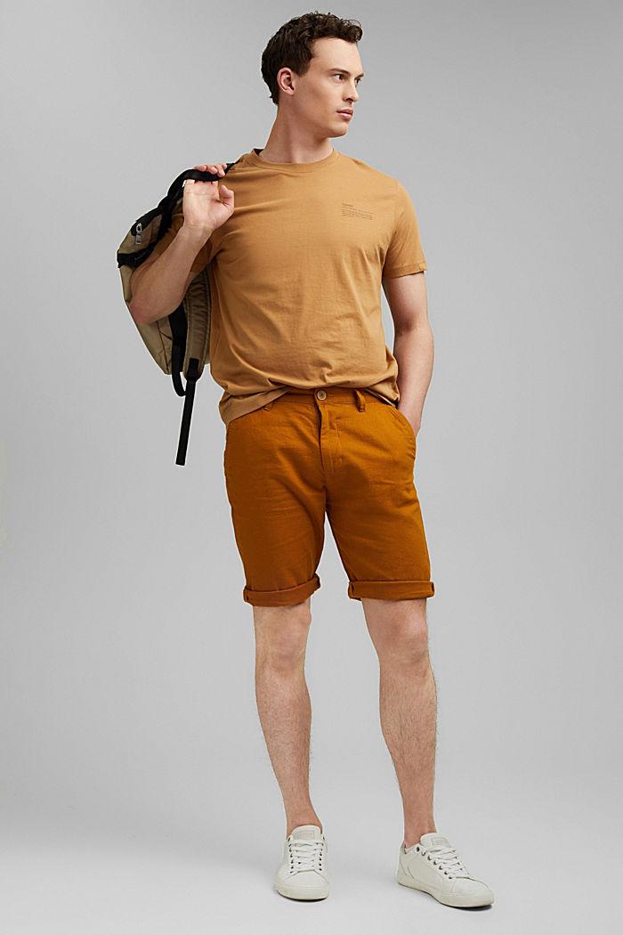 T-Shirt mit Print, 100% Organic Cotton, CAMEL, detail image number 2