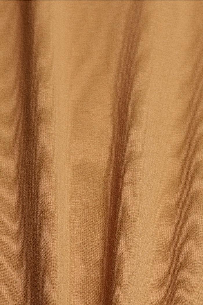 T-Shirt mit Print, 100% Organic Cotton, CAMEL, detail image number 4