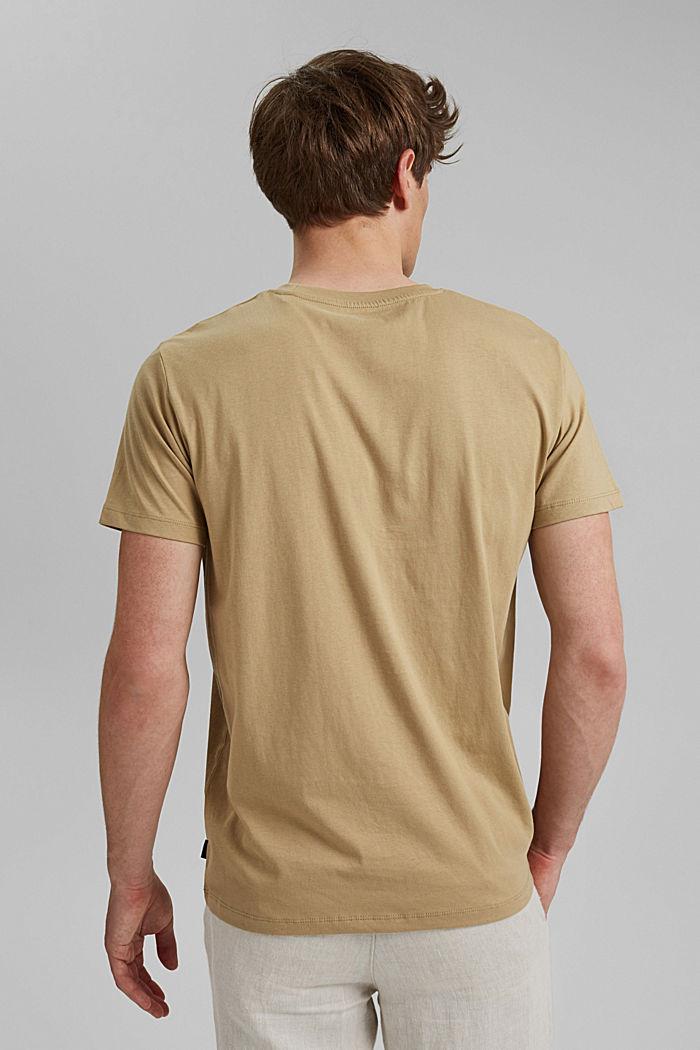 T-shirt met print, 100% organic cotton, BEIGE, detail image number 3