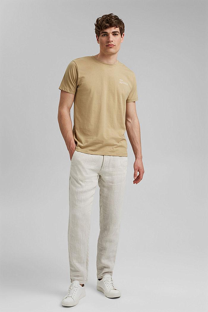 T-shirt met print, 100% organic cotton, BEIGE, detail image number 2