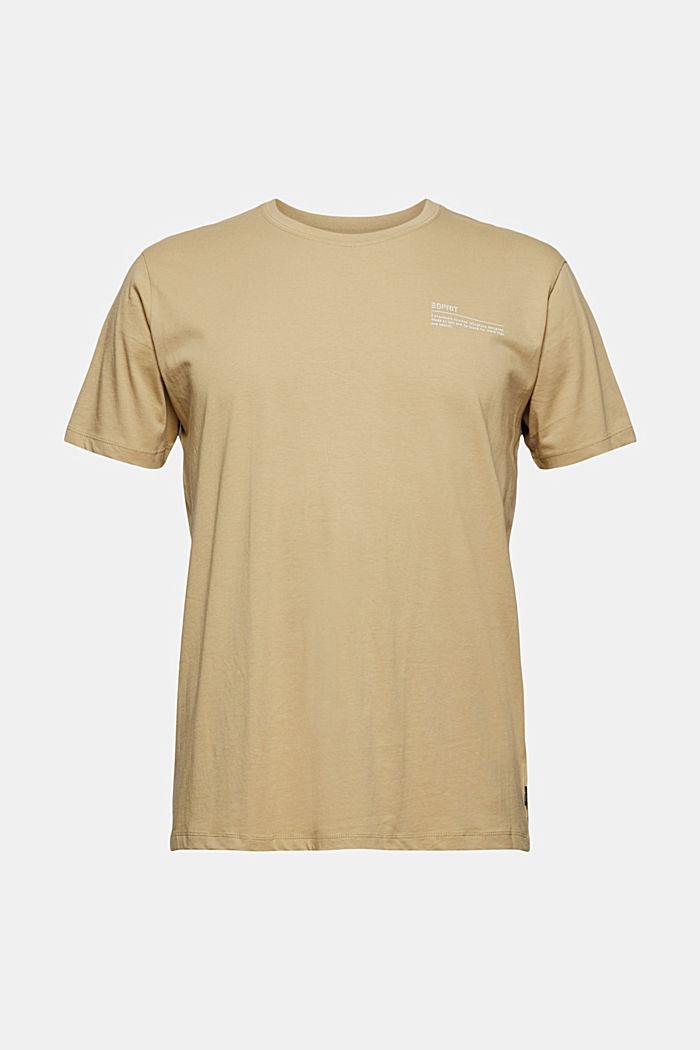 T-shirt met print, 100% organic cotton, BEIGE, detail image number 5