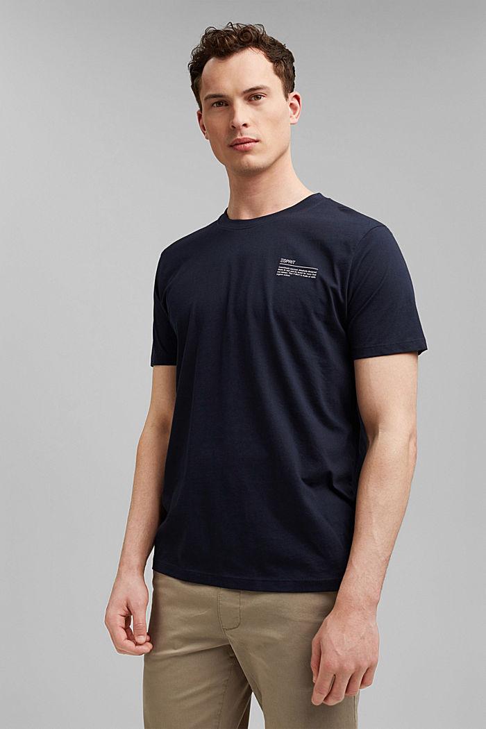 T-shirt à imprimé, 100% coton biologique, NAVY, detail image number 0