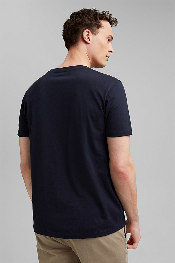 T-shirt à imprimé, 100% coton biologique, NAVY, detail image number 3