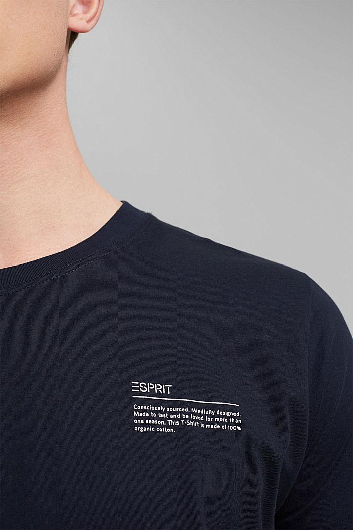 T-shirt à imprimé, 100% coton biologique, NAVY, detail image number 1