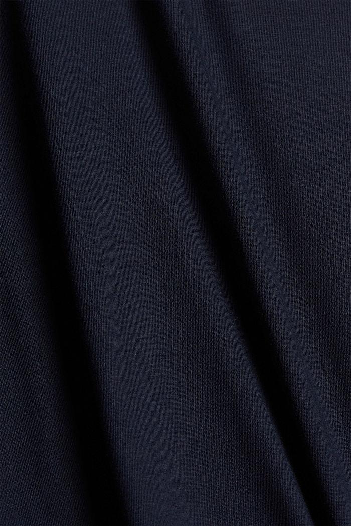 T-shirt à imprimé, 100% coton biologique, NAVY, detail image number 4