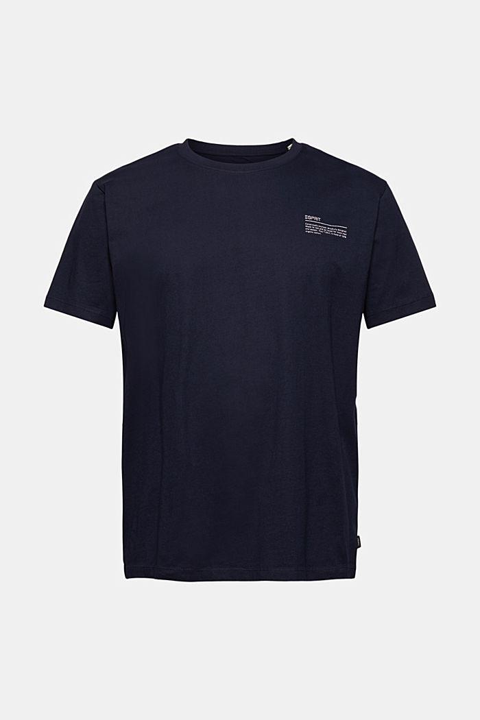 T-shirt à imprimé, 100% coton biologique, NAVY, detail image number 5