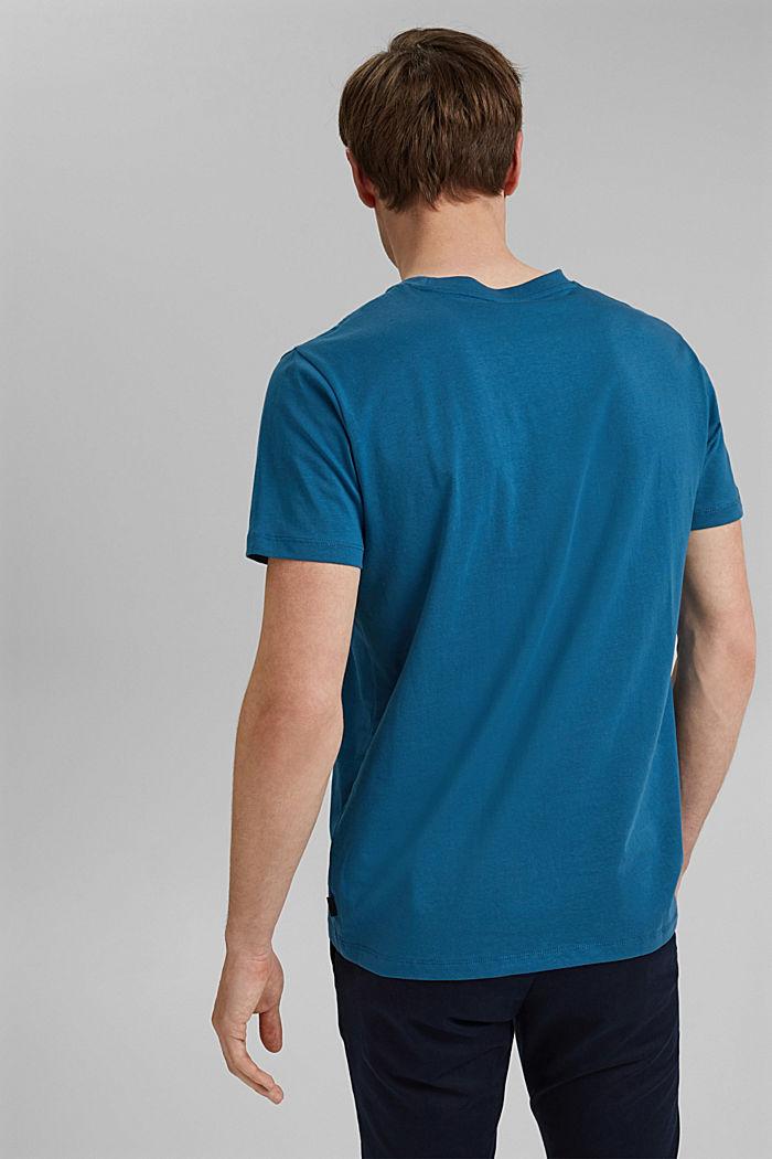 Tričko s potiskem, 100% bio bavlna, PETROL BLUE, detail image number 3