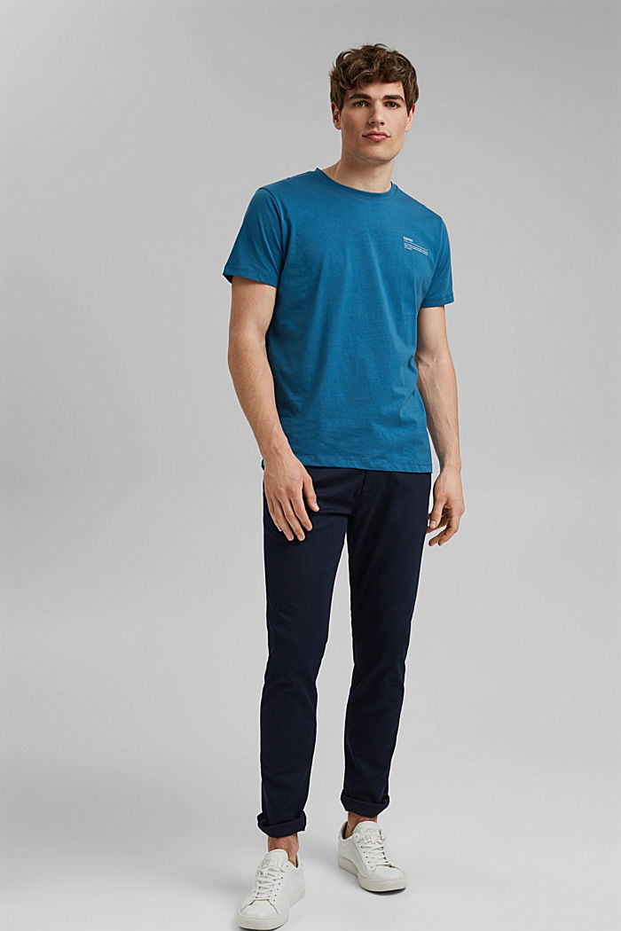 Tričko s potiskem, 100% bio bavlna, PETROL BLUE, detail image number 2