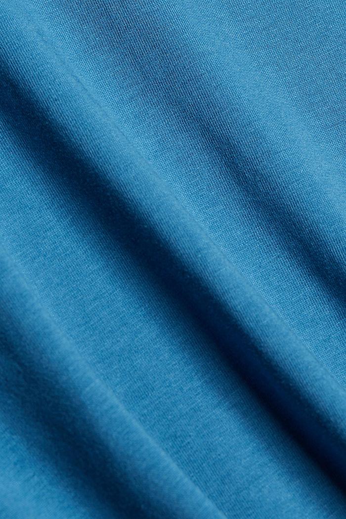 Tričko s potiskem, 100% bio bavlna, PETROL BLUE, detail image number 4
