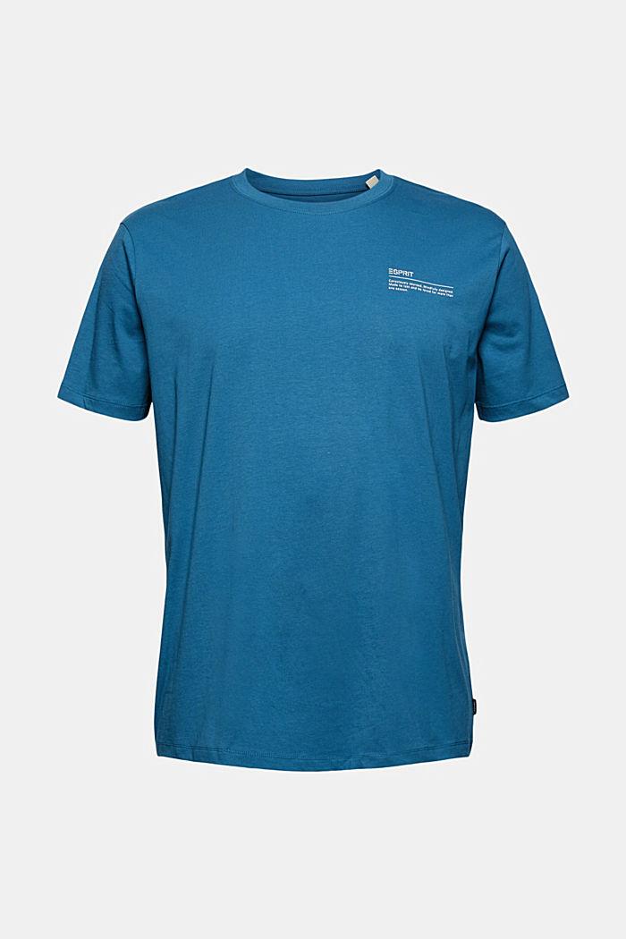 Tričko s potiskem, 100% bio bavlna, PETROL BLUE, detail image number 6