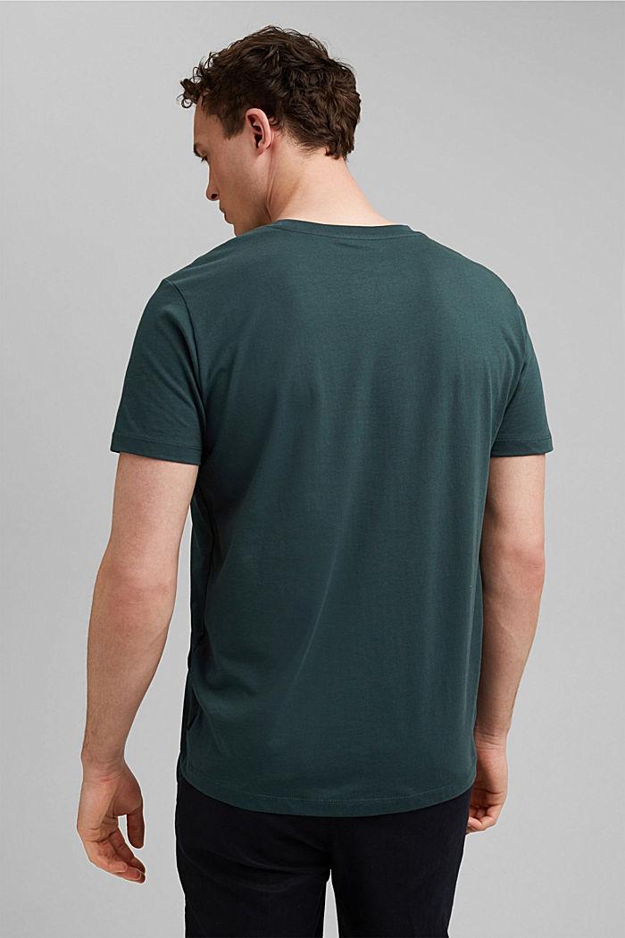 T-shirt à imprimé, 100% coton biologique, TEAL BLUE, detail image number 3