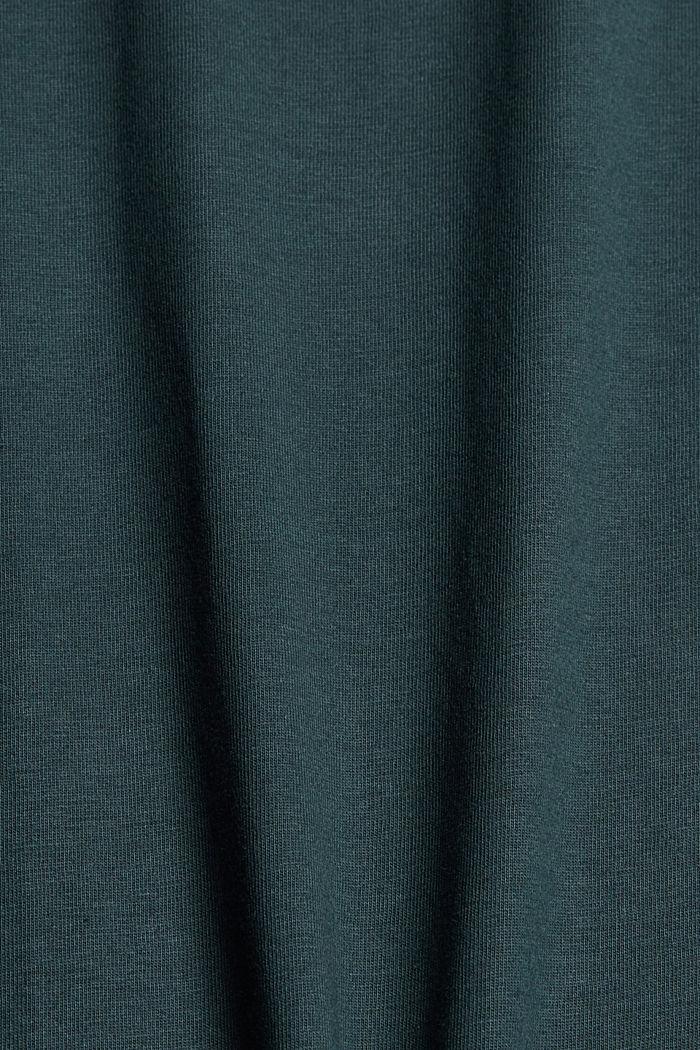 T-shirt à imprimé, 100% coton biologique, TEAL BLUE, detail image number 4