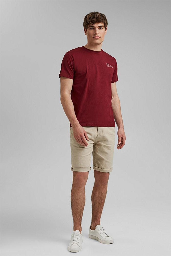 T-shirt à imprimé, 100% coton biologique, GARNET RED, detail image number 2