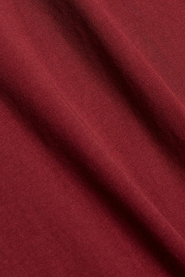 T-shirt à imprimé, 100% coton biologique, GARNET RED, detail image number 4