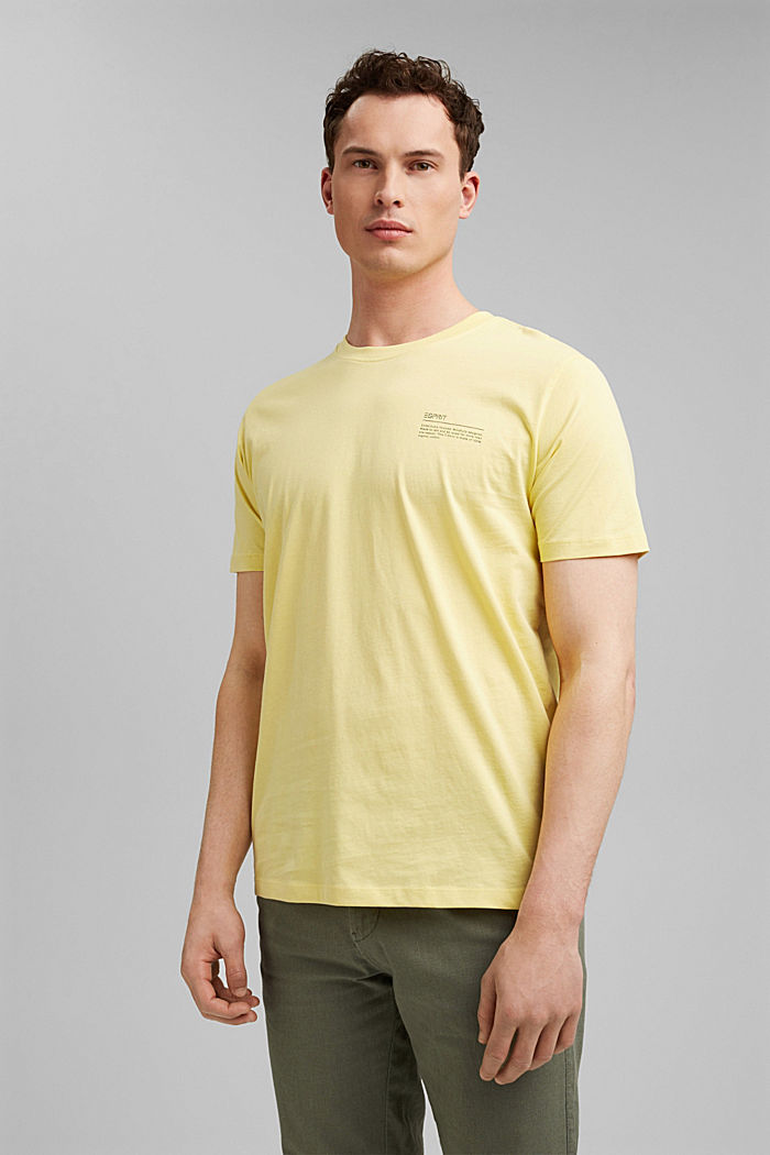 T-Shirt mit Print, 100% Organic Cotton, LIGHT YELLOW, detail image number 0