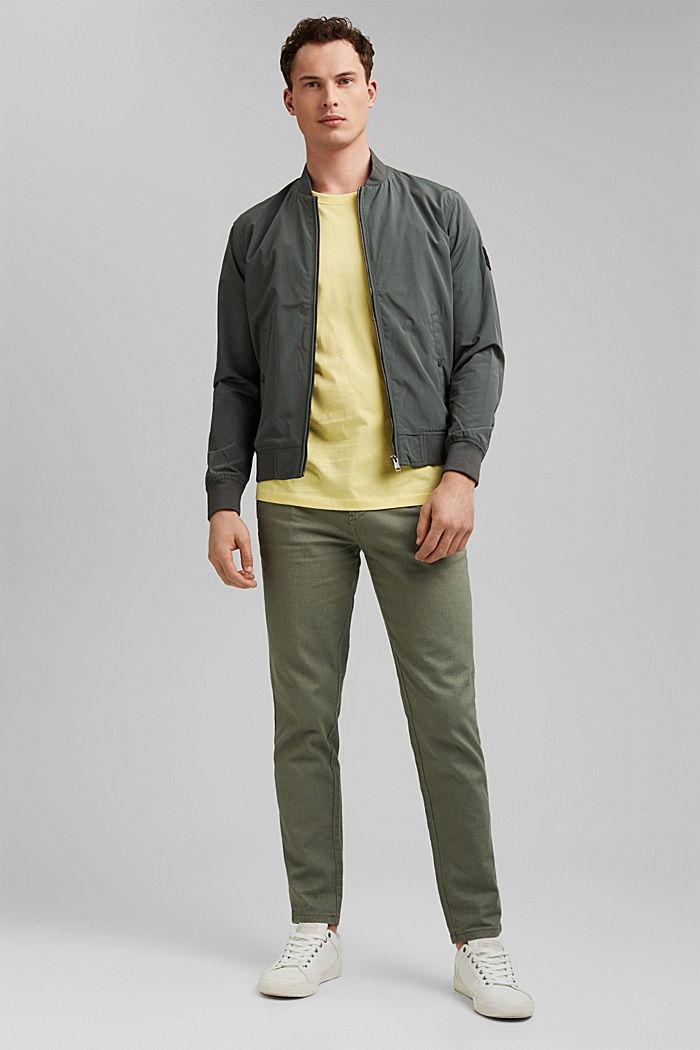 T-Shirt mit Print, 100% Organic Cotton, LIGHT YELLOW, detail image number 2