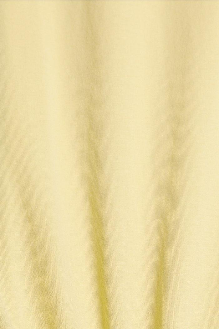 T-Shirt mit Print, 100% Organic Cotton, LIGHT YELLOW, detail image number 4