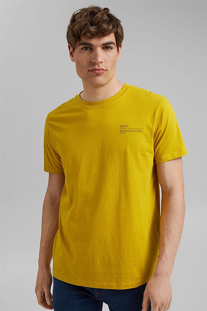 T-shirt à imprimé, 100% coton biologique, YELLOW, detail image number 0