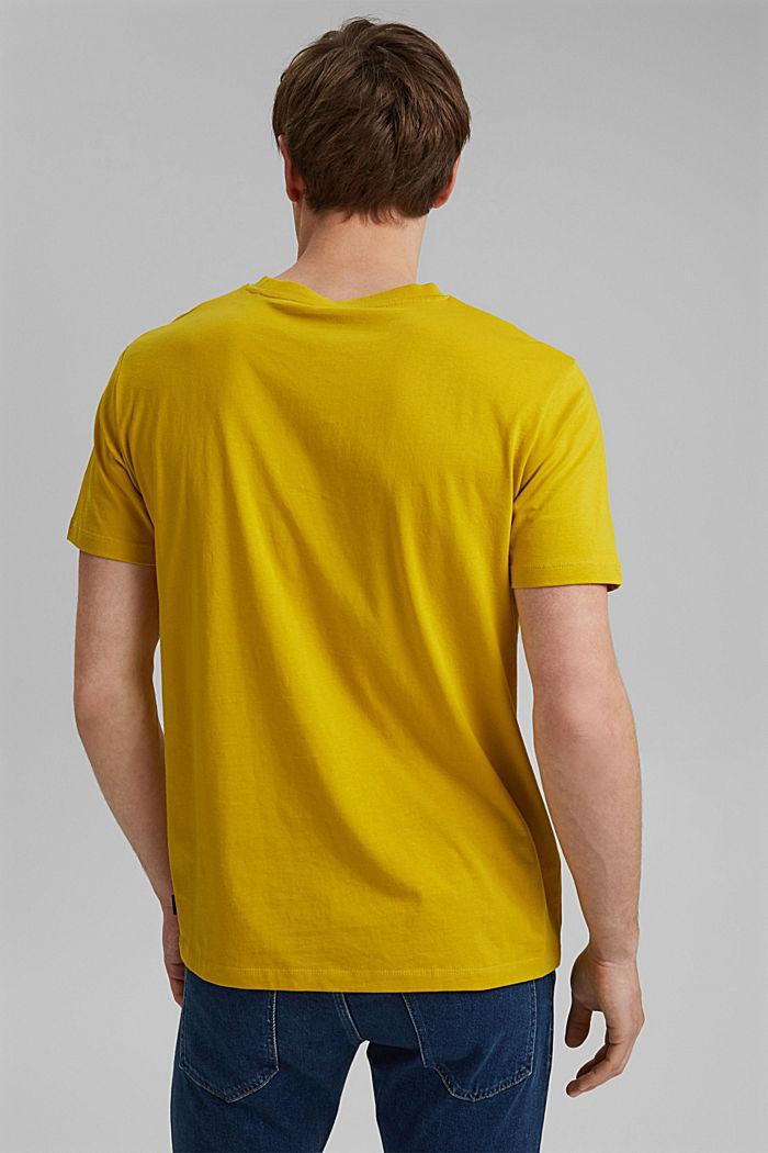 T-shirt à imprimé, 100% coton biologique, YELLOW, detail image number 3