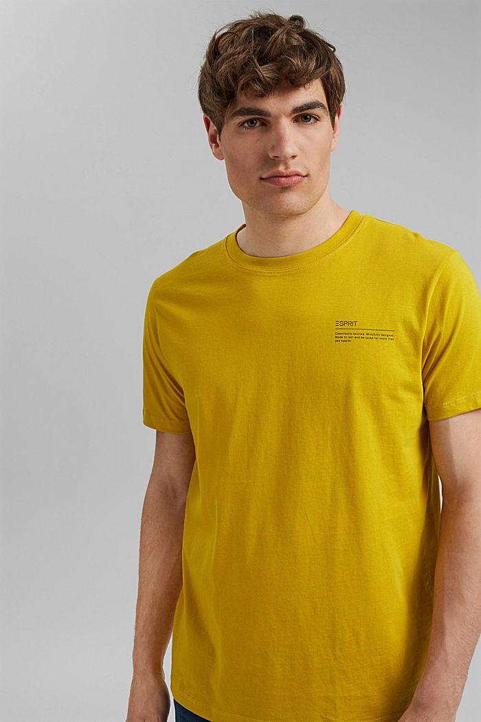 T-shirt à imprimé, 100% coton biologique, YELLOW, detail image number 4