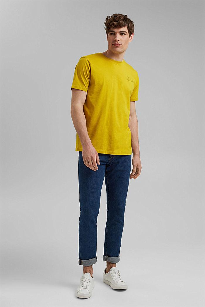 T-shirt à imprimé, 100% coton biologique, YELLOW, detail image number 2