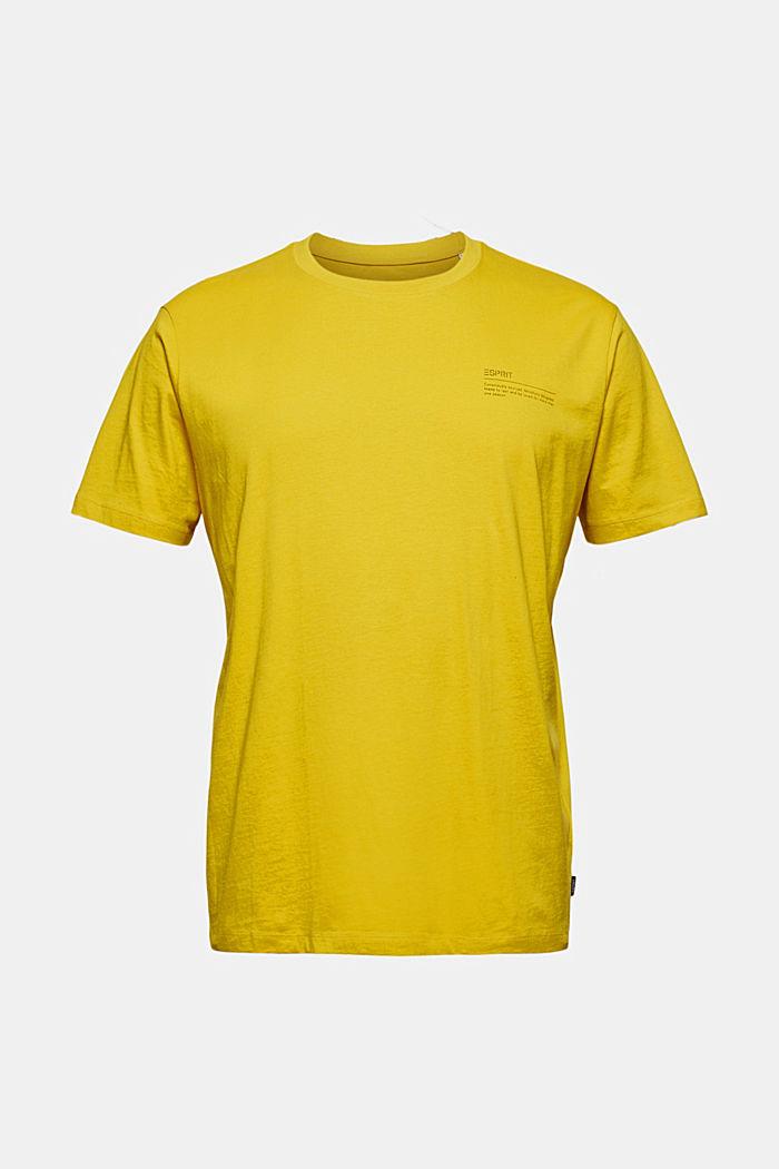T-shirt à imprimé, 100% coton biologique, YELLOW, detail image number 6