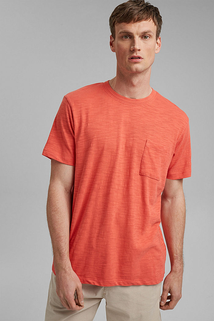 #ReimagineNaturalLifestyle: Jersey-T-Shirt, CORAL RED, detail image number 4