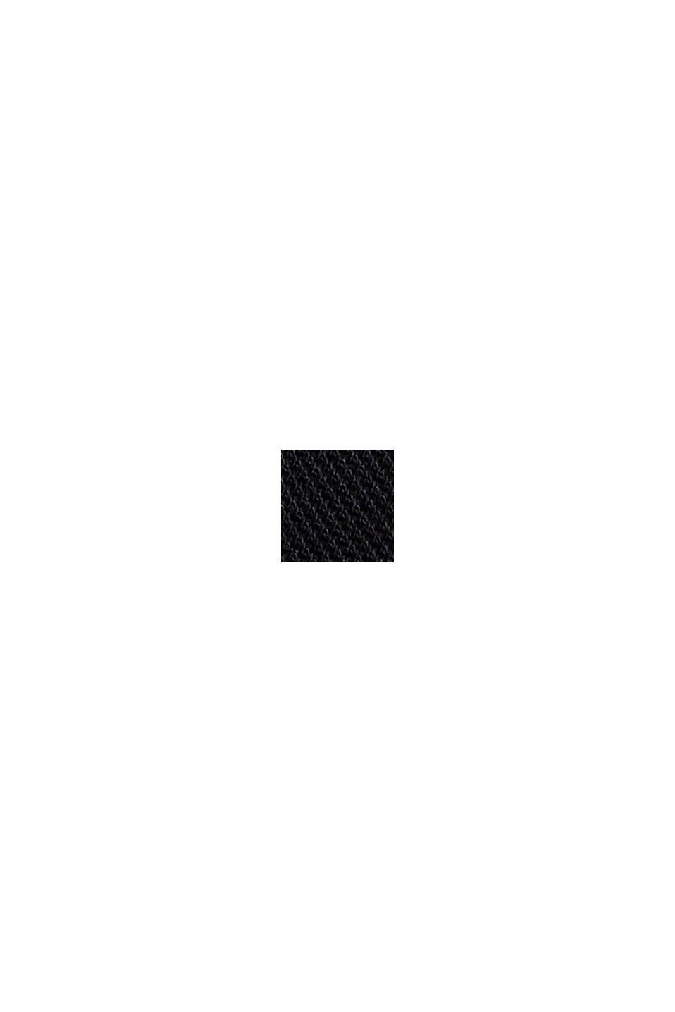 Polo en maille piquée, 100% coton bio, BLACK, swatch