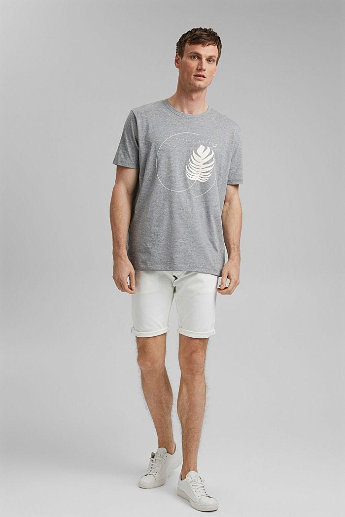 #ReimagineNaturalLifestyle: shirt met print, MEDIUM GREY, detail image number 6