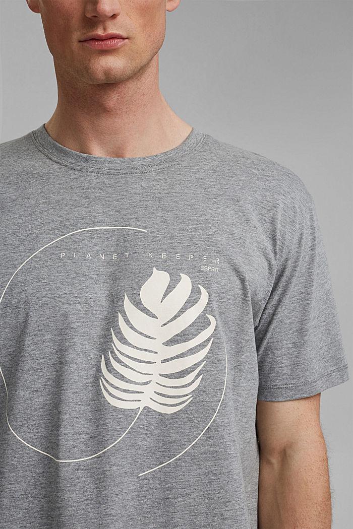 #ReimagineNaturalLifestyle: shirt met print, MEDIUM GREY, detail image number 1