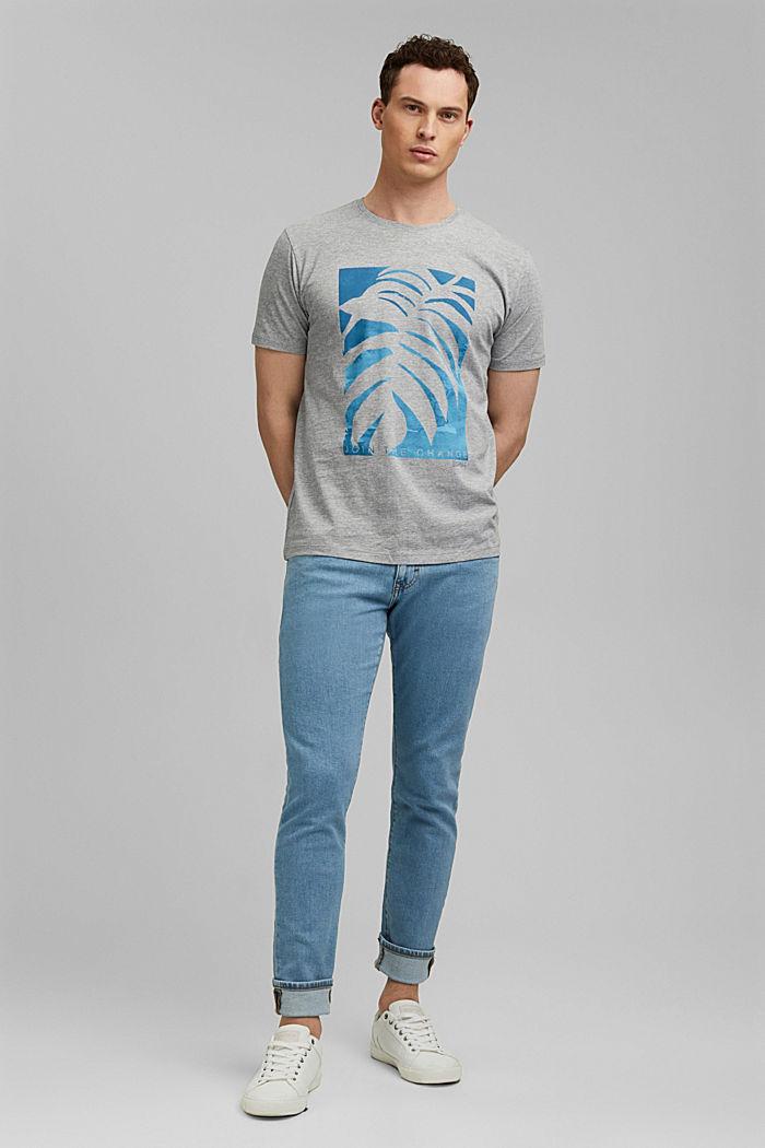 Print t-shirt with organic cotton, MEDIUM GREY, detail image number 2