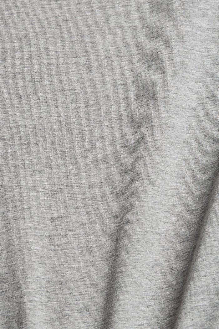 Print t-shirt with organic cotton, MEDIUM GREY, detail image number 4