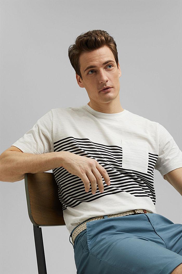 Camiseta de jersey en 100% algodón ecológico, WHITE, detail image number 4