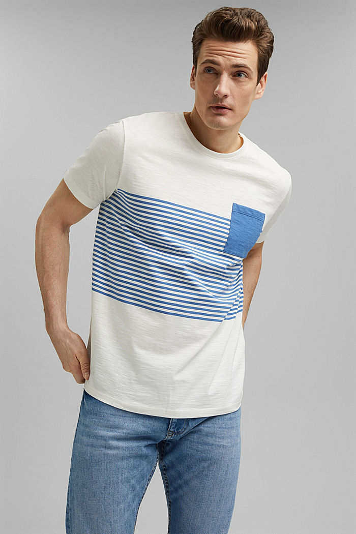 Jersey T-shirt van 100% organic cotton, NEW OFF WHITE, detail image number 0