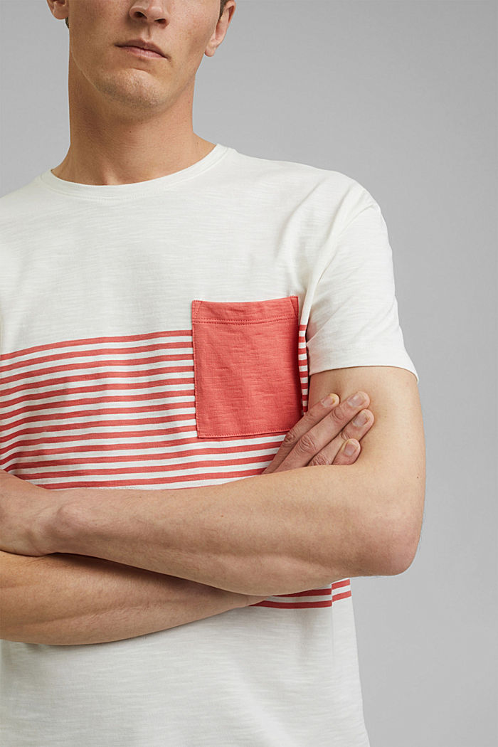 Jersey T-shirt made of 100% organic cotton, OFF WHITE, detail image number 1