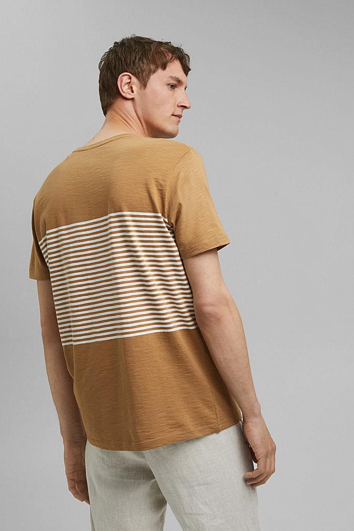 Jersey-T-Shirt aus 100% Organic Cotton, CAMEL, detail image number 3