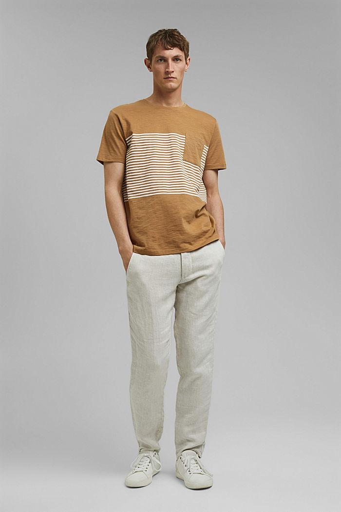 Jersey-T-Shirt aus 100% Organic Cotton, CAMEL, detail image number 2