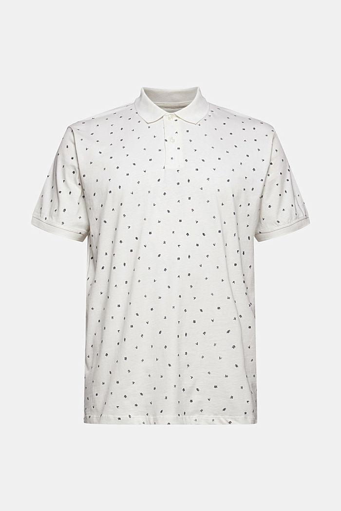 Polo en jersey à imprimé, coton biologique