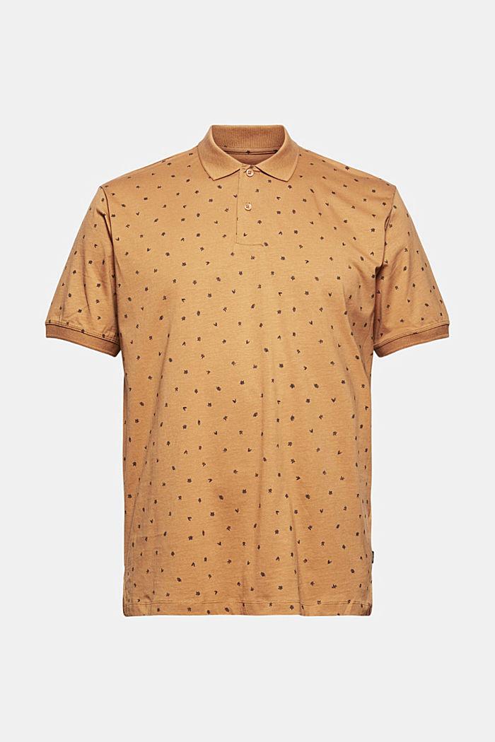 Painokuvioitu kaulus-T-paita, luomupuuvillaa