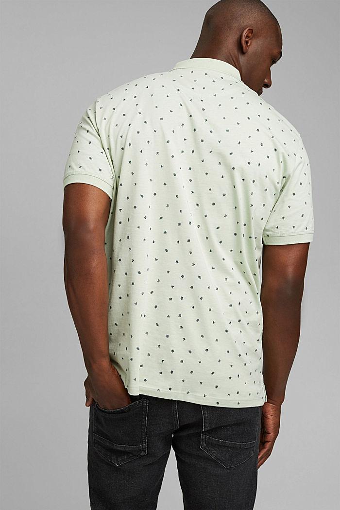 Jersey-Polo mit Print, Organic Cotton, PASTEL GREEN, detail image number 3