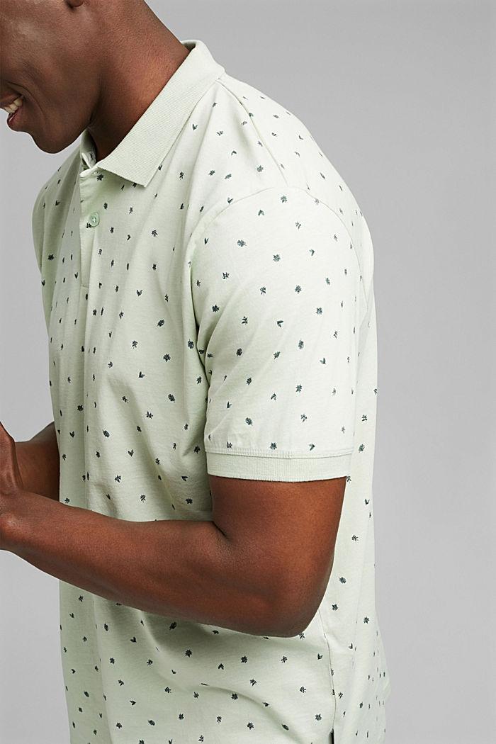 Jersey-Polo mit Print, Organic Cotton, PASTEL GREEN, detail image number 1